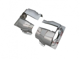 Couvre cylindre chrome 1300/1600 double admission (la paire)