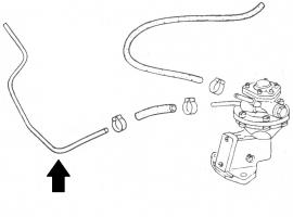 Tuyau d'essence métallique