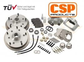 Kit frein à disque ventilé avant CSP 5 trous 5 X 205 1200 ->65