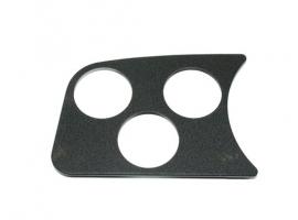 Support de manomètre noir 3 trous 52mm