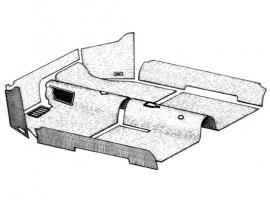 kit Moquette grise pour cabriolet 70/72