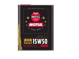 Huile MOTUL 2100 Classic 15W50 2L huile haut de gamme pour les véhicules des années 70