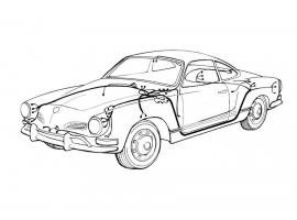 Faisceau électrique Karmann Ghia 72/73