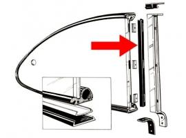 Joint vertical de vitre latéral pour karmann (2)