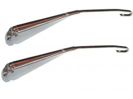 Bras d' essuie glace chrome (la paire) tige ronde