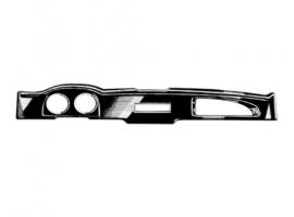 Face de tableau de bord plastique noire 72/74