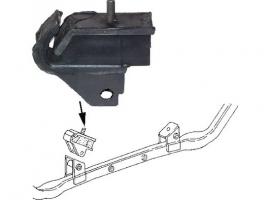 Silentbloc extérieur de support moteur Transporter essence 80/92