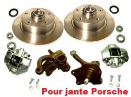 Kit frein à disque avant pour 1200/1300 modèle 66-> perçage Porsche