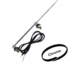 Antenne chromée type USA à 2 points