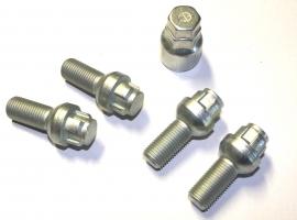 Boulon de roue antivol M14x1.5 sphérique (les 4)