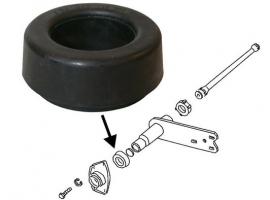 Silentbloc plaque suspension arrière rond Q+