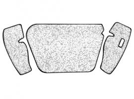 Moquette grise de coffre avant 68->