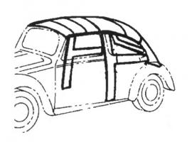 Ciel de toit noir modèle 58/67