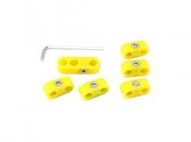 Séparateur de fils de bougie jaune