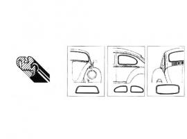 Kit joint de vitre origine 1200/1300/1302 72/78
