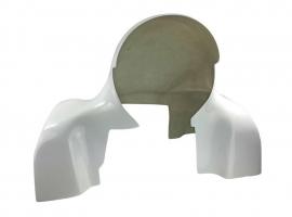 """Coiffe polyester pour turbine PORSCHE T4 """"epoxy"""" Blanche"""