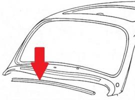 Baguette profil de porte joint 110 cm  Q+