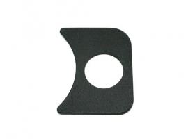 Support de manomètre noir droit Ø52