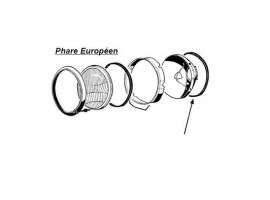 Joint entre phare et caisse pour karmann (la paire)