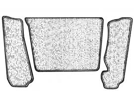 Tapis de coffre avant noir Karmann Ghia 68/74