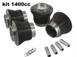 Kit chemises/pistons 1400cc (emboîtement 87mm) moteur 1200cc