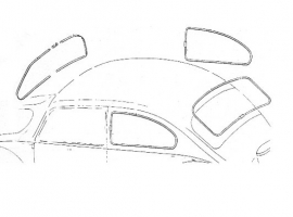 Kit joint de vitre d'origine 65/71