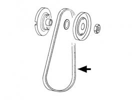 Courroie dynamo 9.5X905 (ou 10x900) pour cox et combi