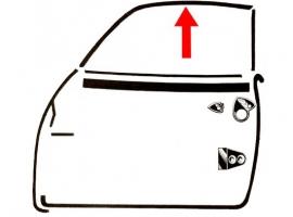 Joint supérieur de vitre de porte pour karmann (4 pièces)