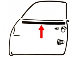 Lèche-vitre extérieur de porte karmann Ghia 60-71