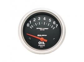 Manomètre de pression d'huile AUTOMETER 67mm livré avec sonde