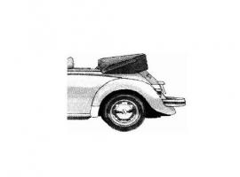 couvre capote tissus alpaga noire 73-77