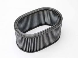 Elément cartouche de filtre à air ovale
