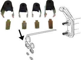 Kit fixation de barre stabilisatrice pour  train à pivot