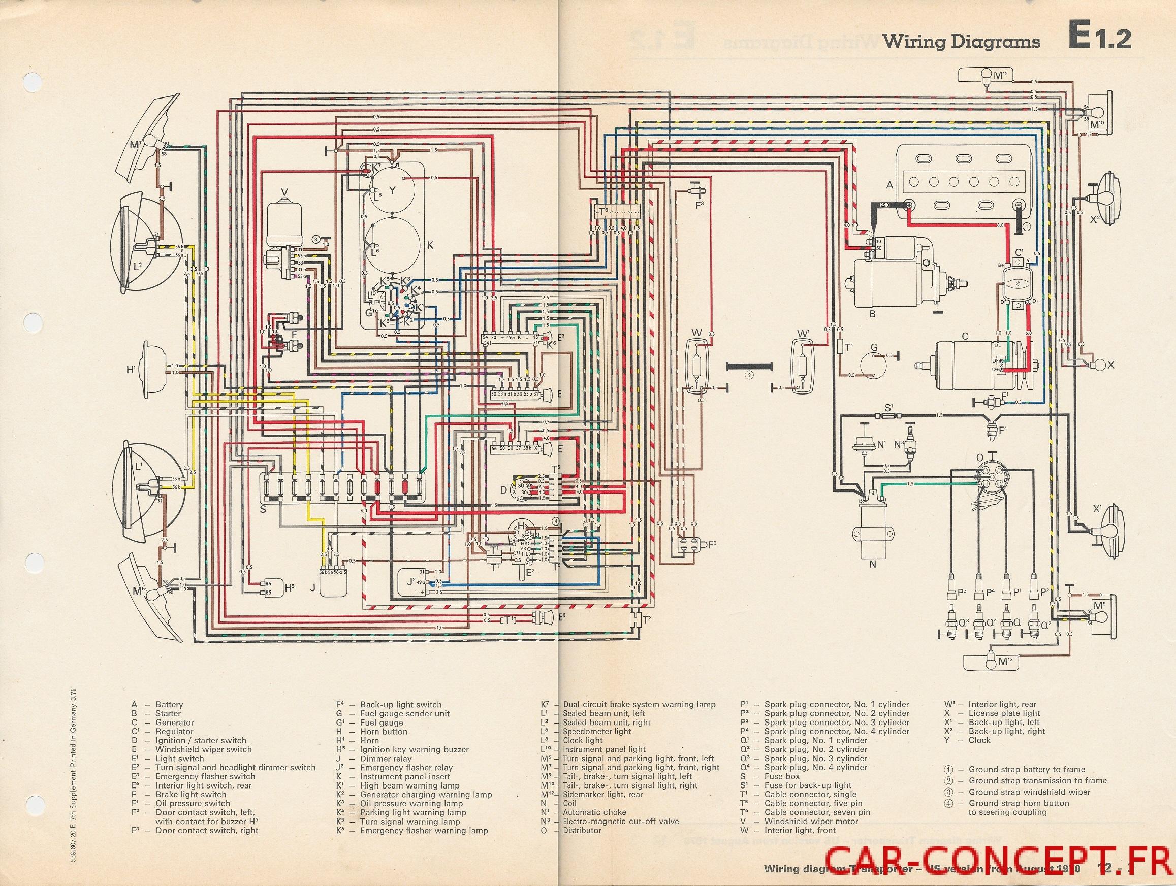 fiat 500 electrical wiring diagram pi  ces pour cox vw  combi et d  riv  s car concept  pi  ces pour cox vw  combi et d  riv  s car concept
