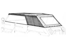 Capote en vinyle noir pour VW 181