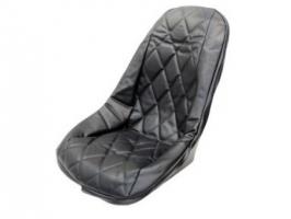 Housse de siège vinyle noir pour baquet old school
